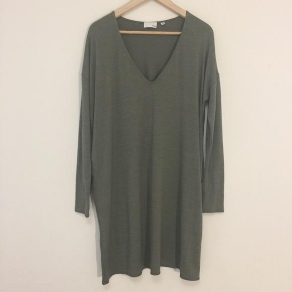 Aritzia Wilfred Free olive green sweater dress
